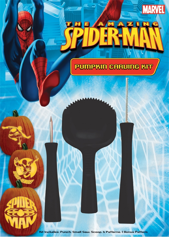 Spiderman Pumpkin Carving Kit by Paper Magic