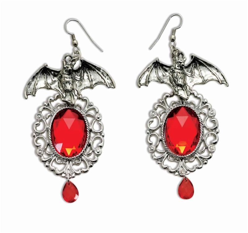 Vampiress Bat Earrings