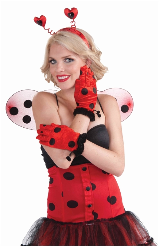 Lady Bug Adult Gloves