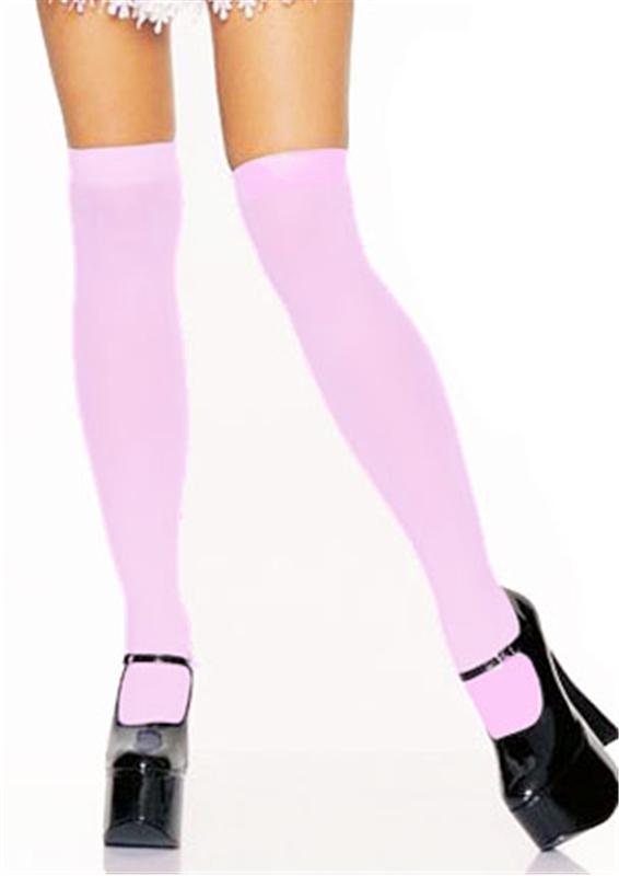 Pink Nylon Thigh Highs