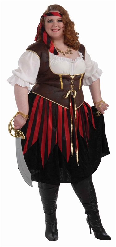 Pirate Lady Adult Womens Plus Size Costume