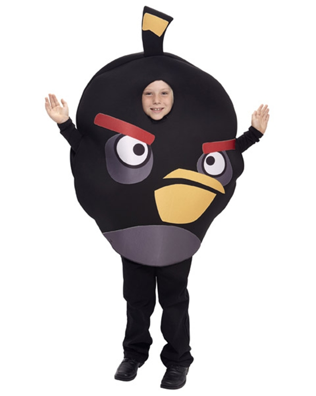 Image of Angry Birds Black Bird Child & Tween Costume