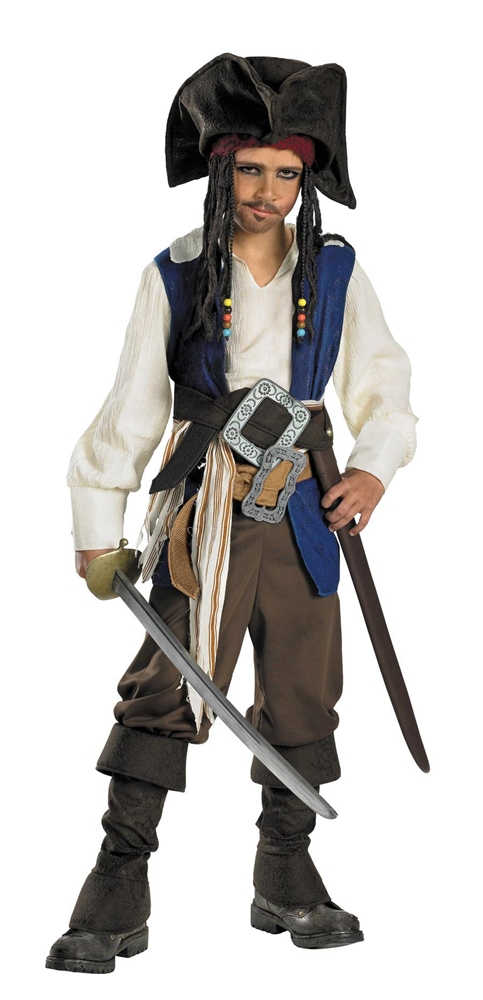 Captain Jack Sparrow Deluxe Child Costume (Captain Jack Sparrow Child Deluxe Costume)