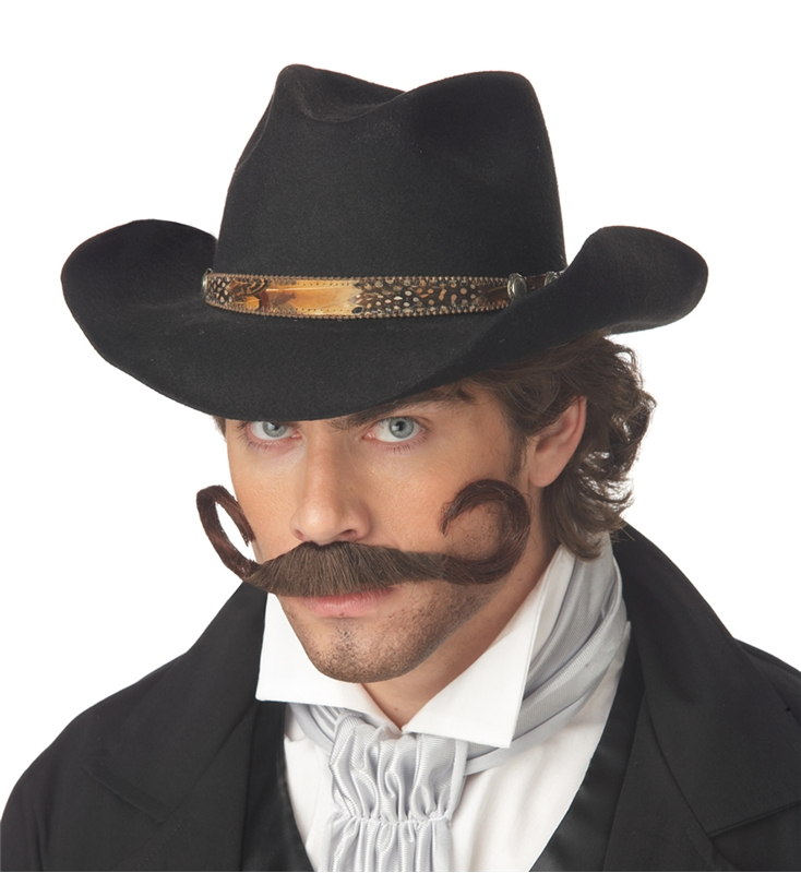 Gunslinger Brown Moustache