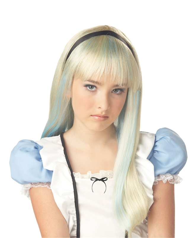 Alice Blonde & Blue Child Wig