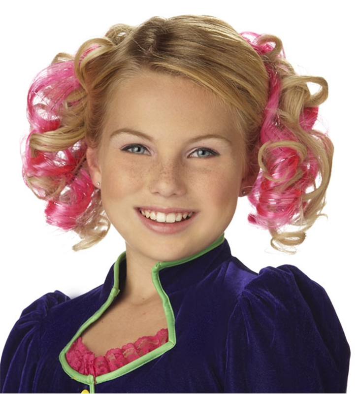 Pink Curly Clips by California Costumes