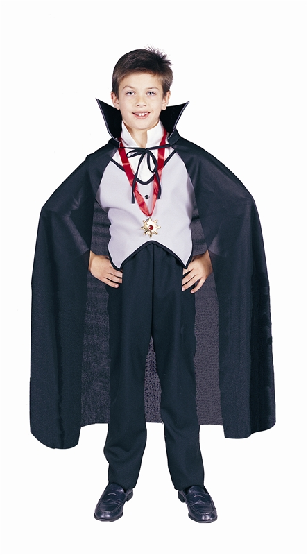 Image of Black Dracula Cape Child