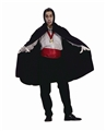 Black-Nylon-Taffeta-Hooded-Cape-45in