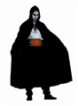 Full-Length-Nylon-Hooded-Black-Cape-56in