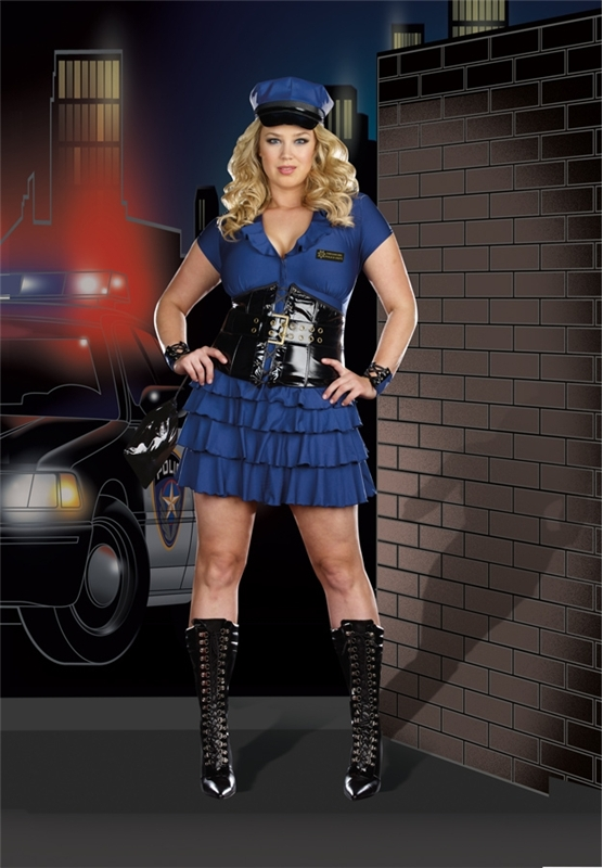 Late Night Patrol Plus Size Adult Womens Costume by Dreamgirl
