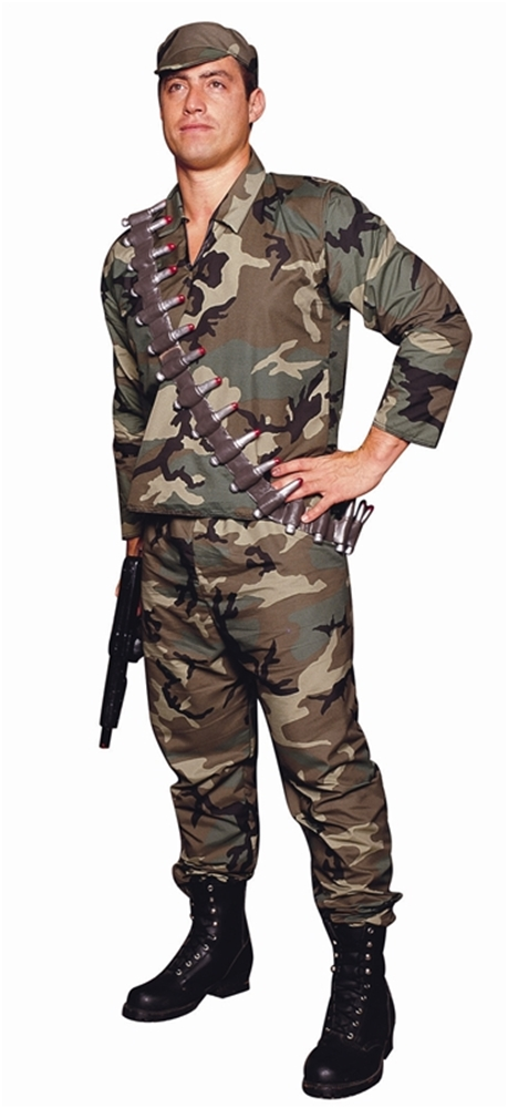 Camouflage Army Commando Costume