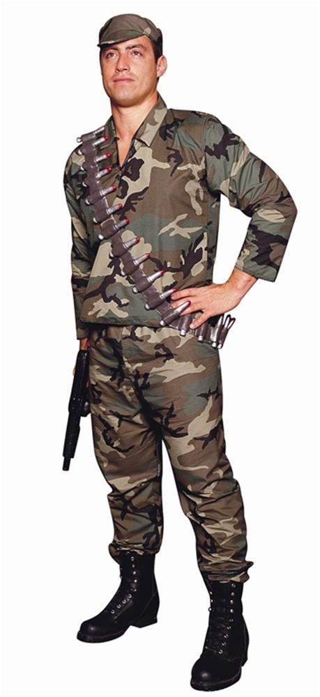 Camouflage Army Commando Costume