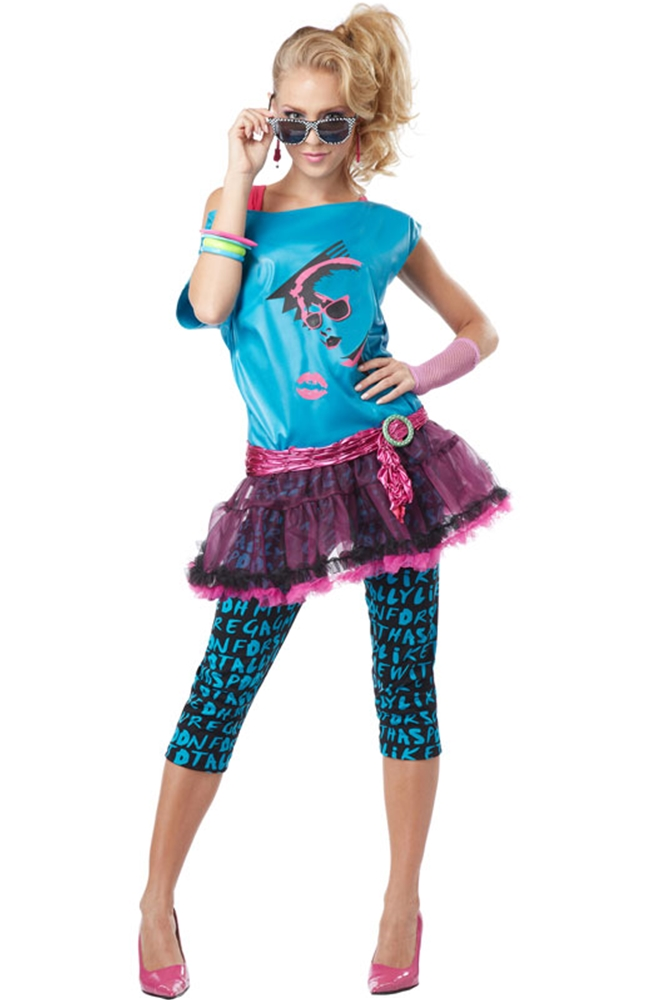 80s Valley Girl Adult Womens Costume (Womens 80s)