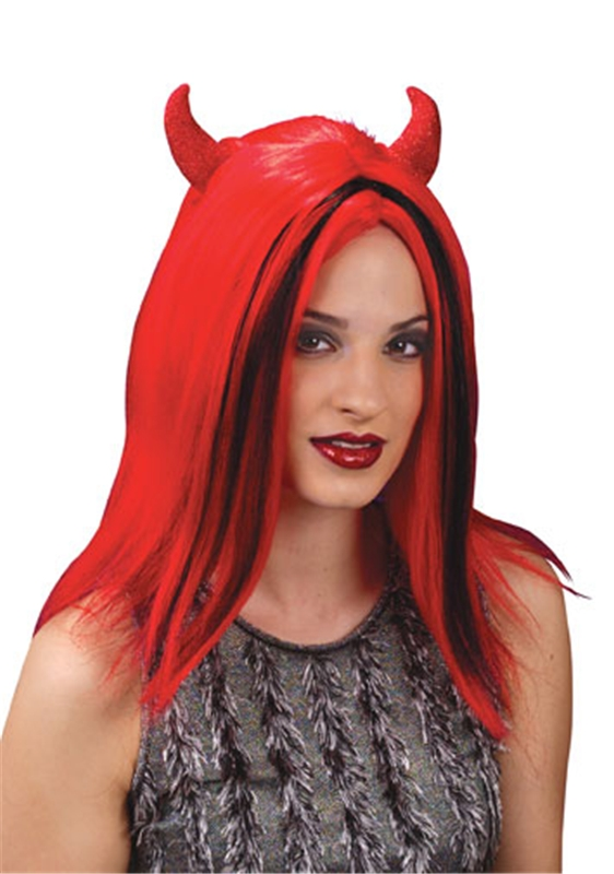 Devil Wig with Red Horns
