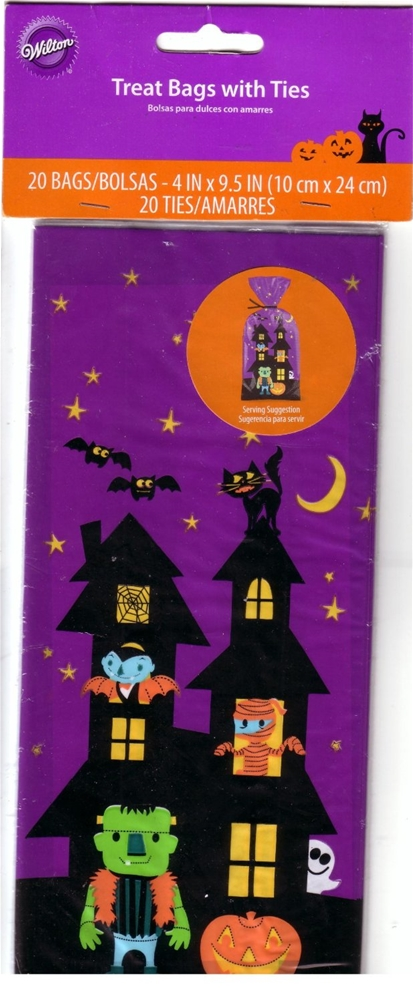 Haunted House Treat Bags With Ties 20ct