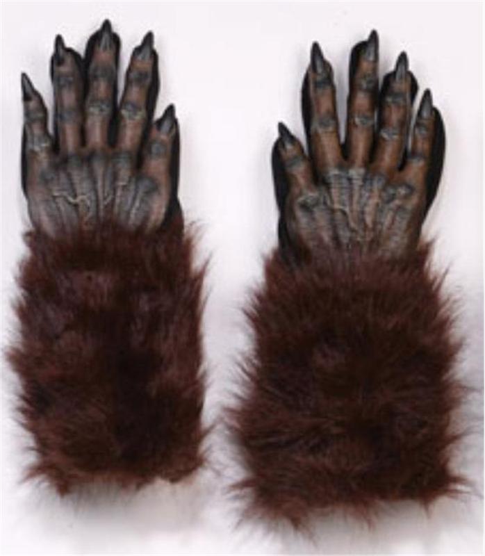 Brown Werewolf Hand Gloves by Fun World