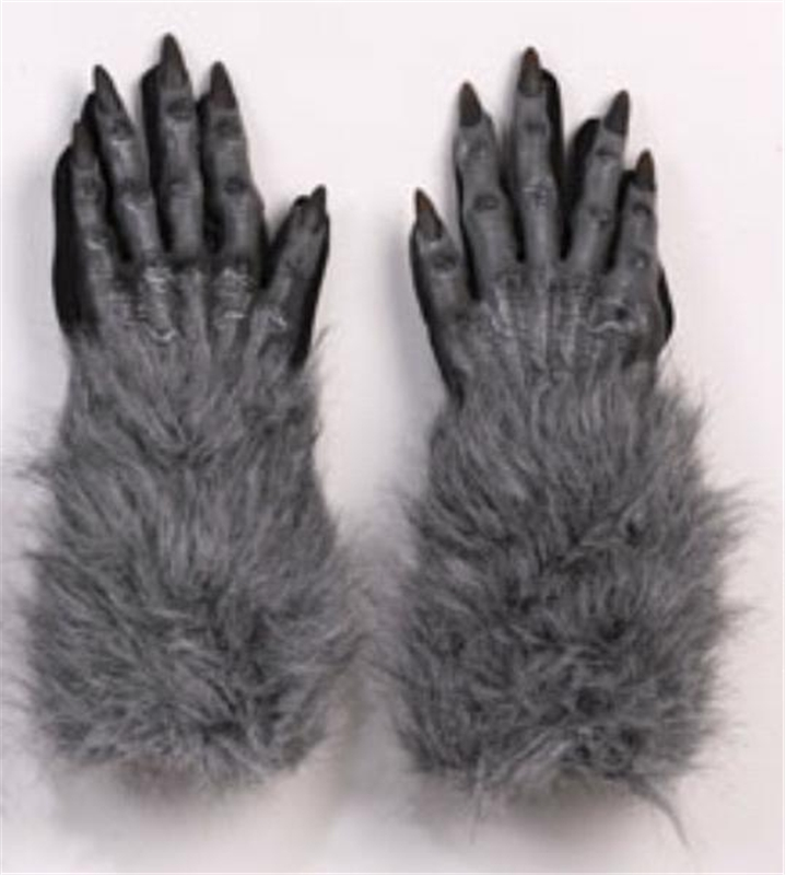 Grey Werewolf Hand Gloves