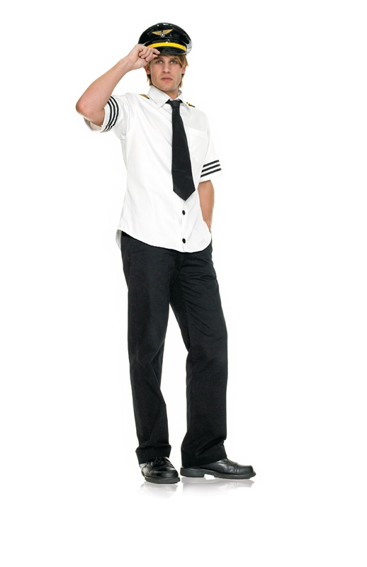 Captain Fetish Air Pilot Plus Size Adult Mens Costume