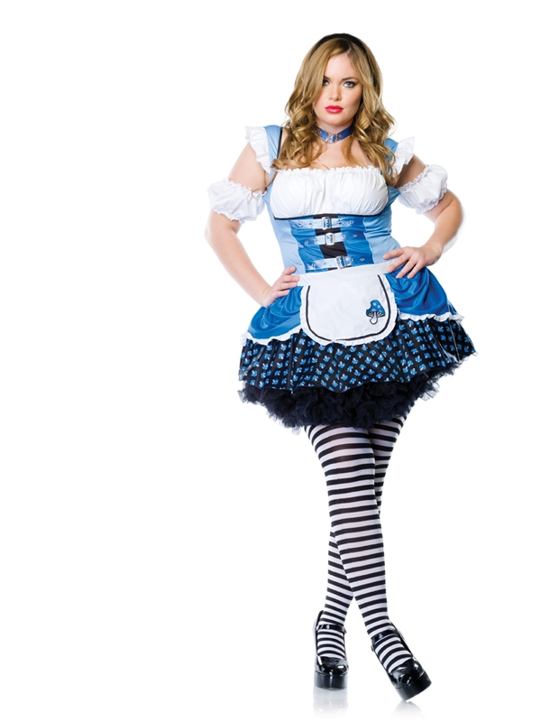 Magic Mushroom Alice 2pc Plus Size Costume