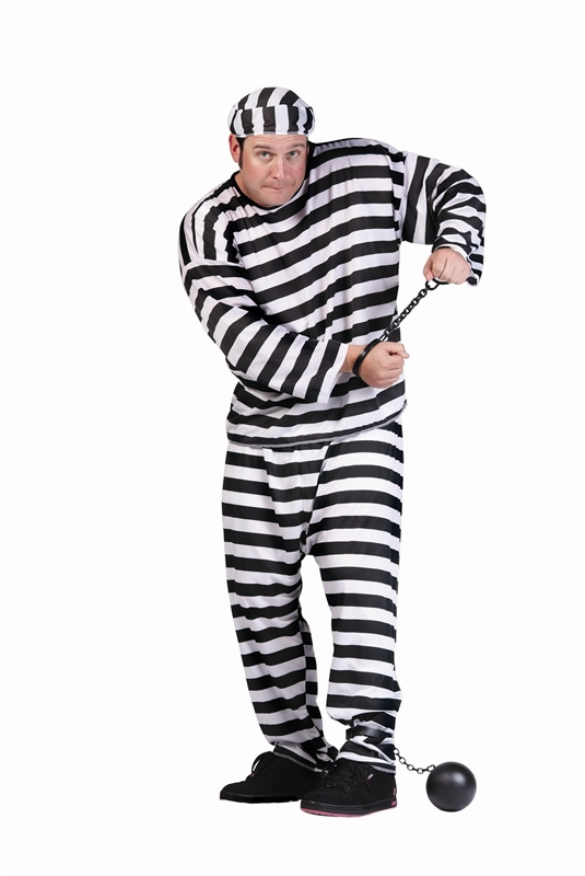 [Convict Plus Size Costume] (Plus Size Costumes)