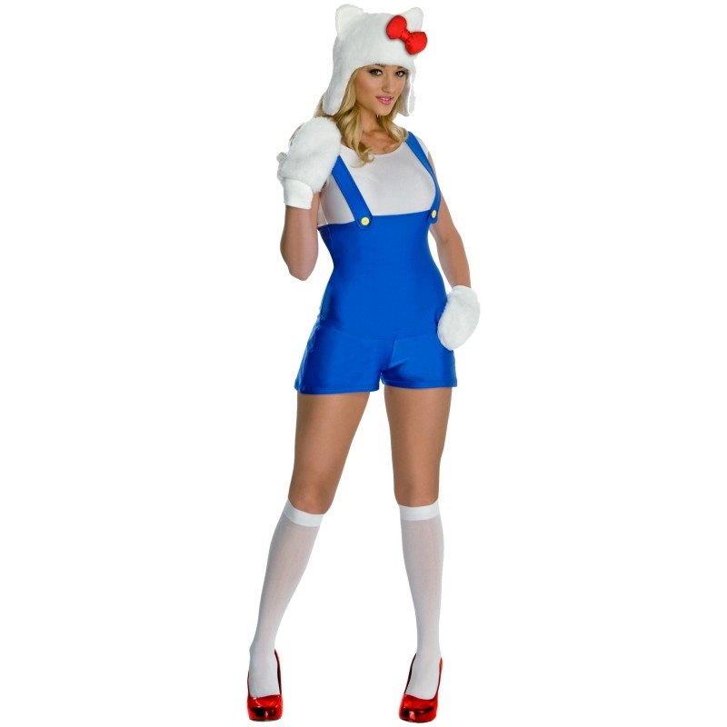 Hello Kitty Blue Romper Adult Womens Costume
