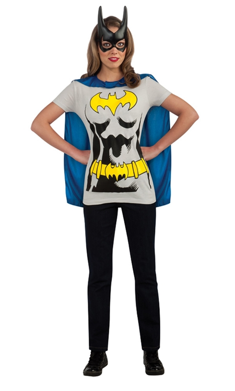 Batgirl Adult Costume T-Shirt With Cape by Rubies