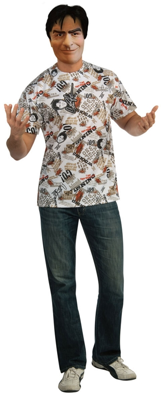 Charlie Sheen T-Shirt Adult Mens Costume