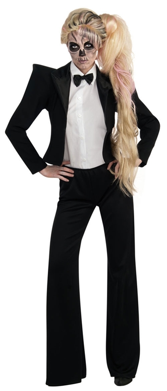 Lady Gaga Tuxedo Adult Costume by Rubies