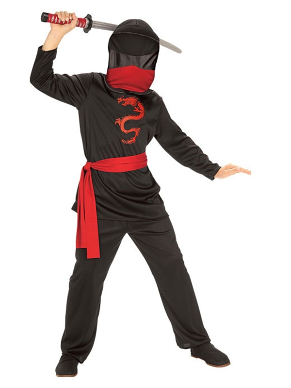 [Ninja Black Dragon Costume] (Ninja Dragon Costumes)