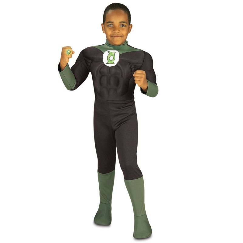Deluxe Muscle Green Lantern Child Costume by Rubies