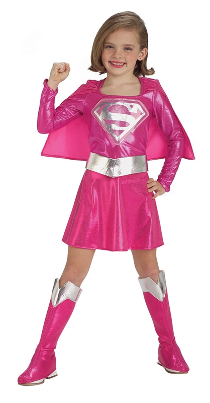 [Supergirl Pink Child Costume] (Supergirl Costumes Pink)