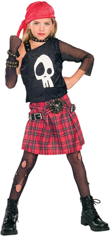 Punk Skull Diva Child Costume by Rubies