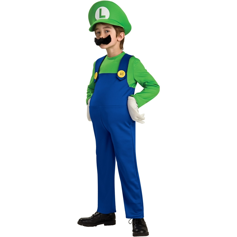 Deluxe Mario Brothers Luigi Child Costume by Rubies