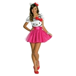 Hello Kitty Face Tutu Dress Teen Costume