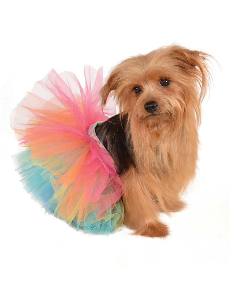 Rainbow Tutu Pet Costume by Rubies