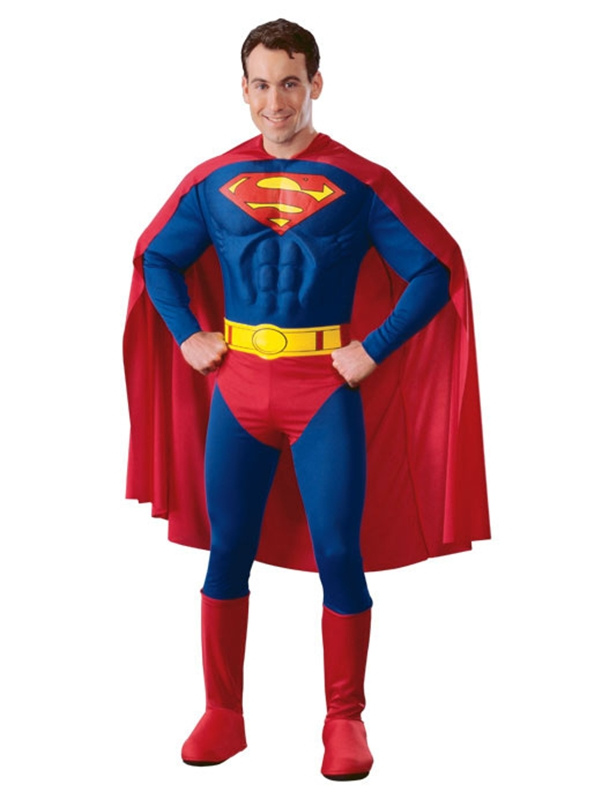 Muscle Chest Superman Deluxe Adult Mens Costume by Rubies