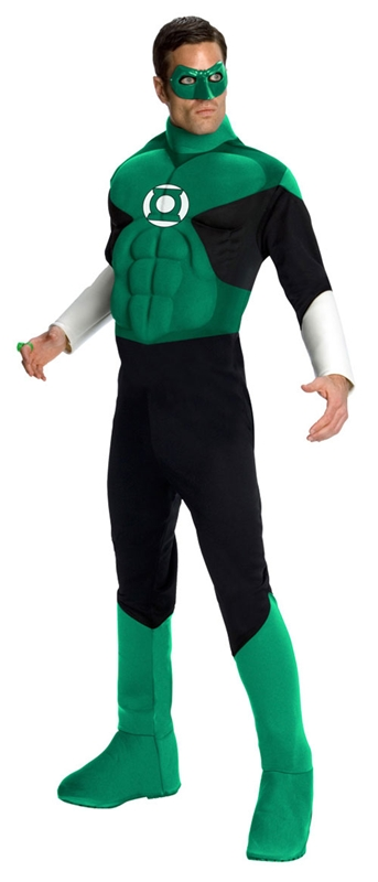 Green Lantern Deluxe Muscle Adult Mens Costume