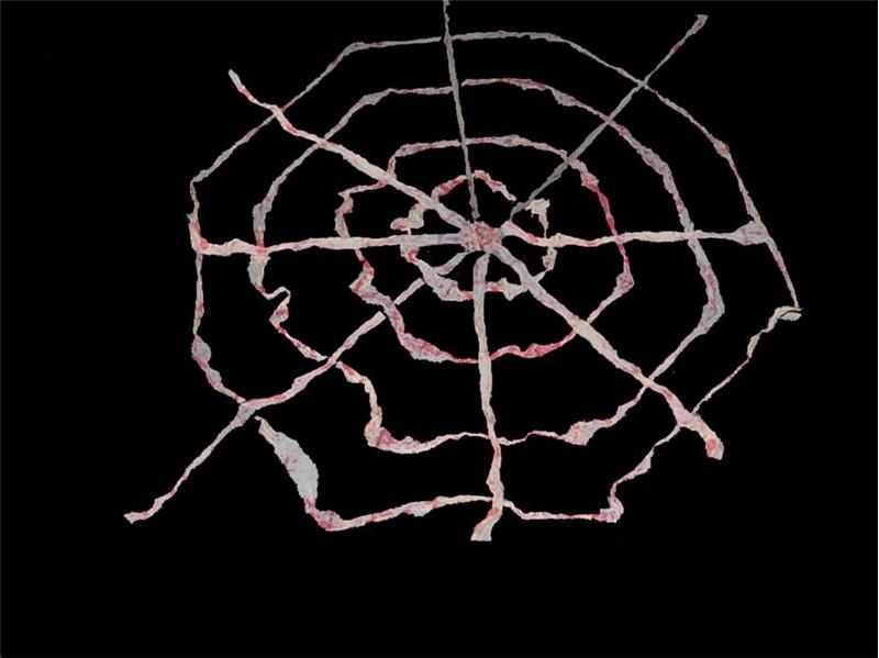 9ft Bloody Gauze Spider Web Prop