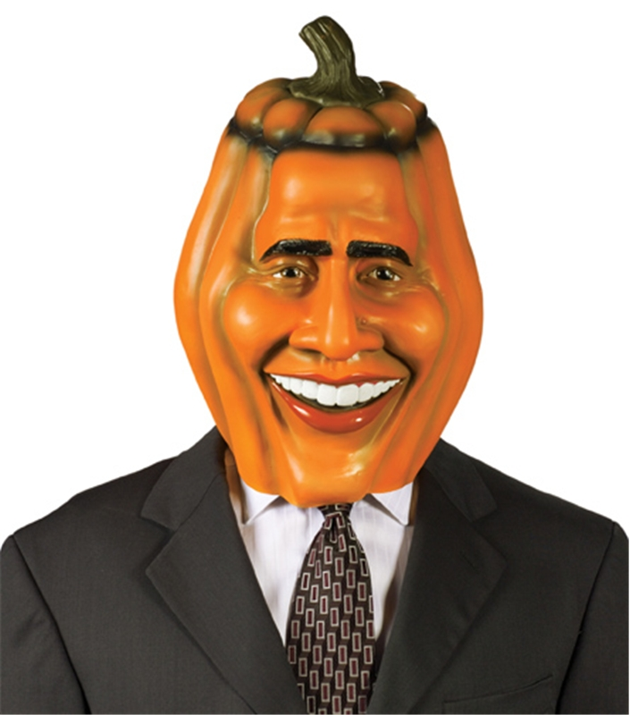 Pumpkin Head Obama Mask