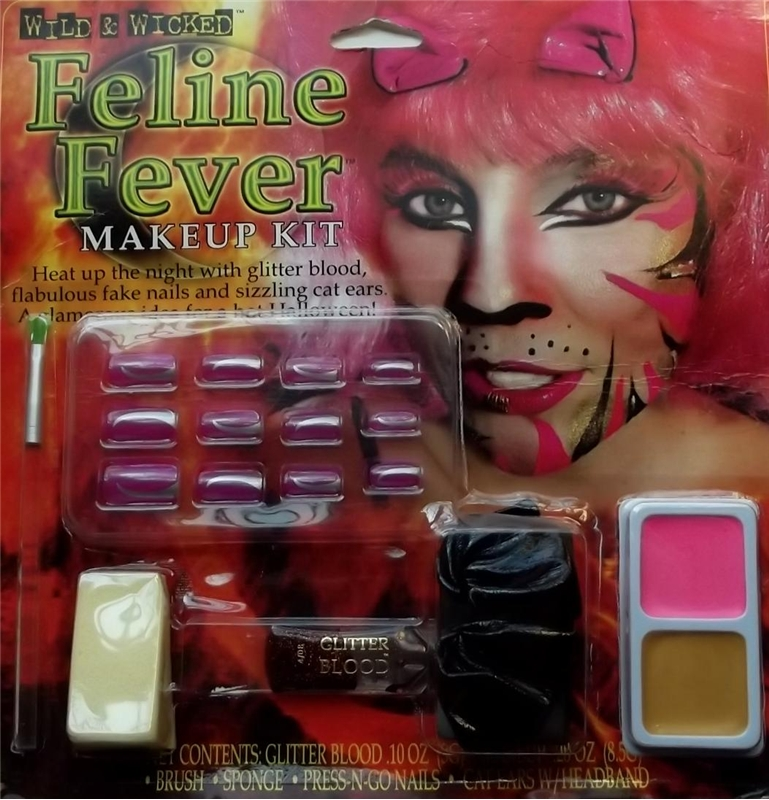 Wild and Wicked Feline Fever Makeup Kit by Fun World