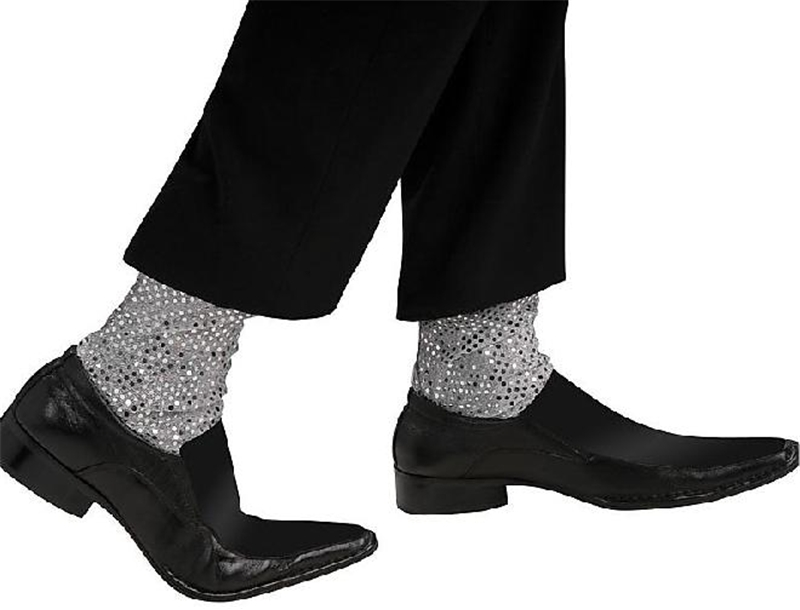 Michael Jackson Sequin Adult Faux Socks
