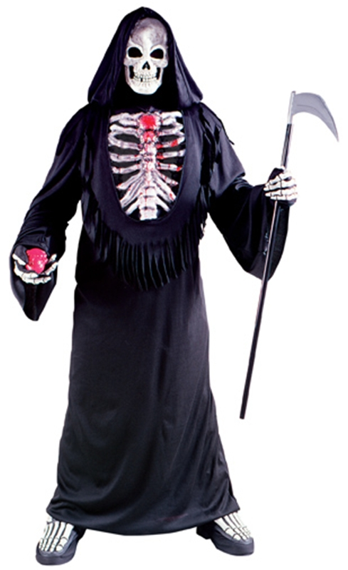 Bleeding Skeleton Chest Plus Size Adult Mens Costume 9958
