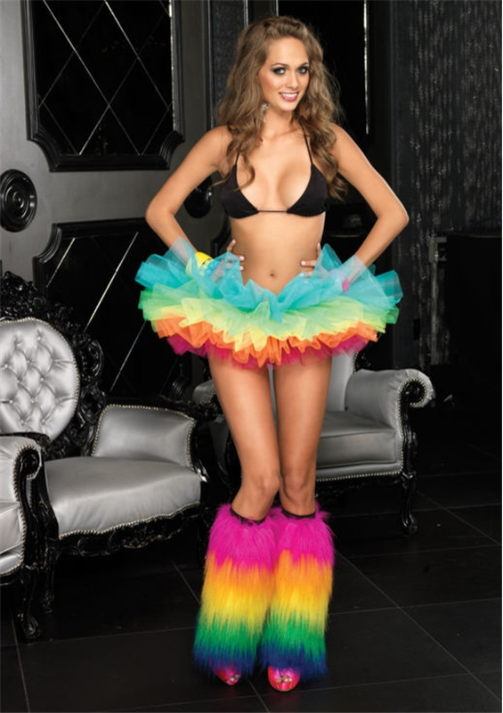 Rainbow Organza Adult Womens Tutu