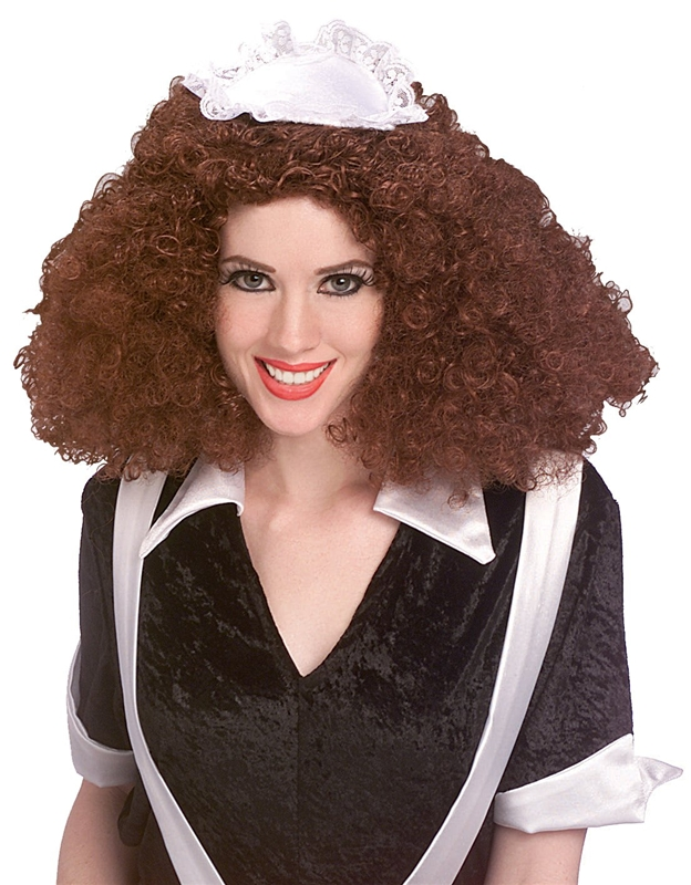 [Rocky Horror Brown Magenta Adult Wig] (Rocky Horror Wig)
