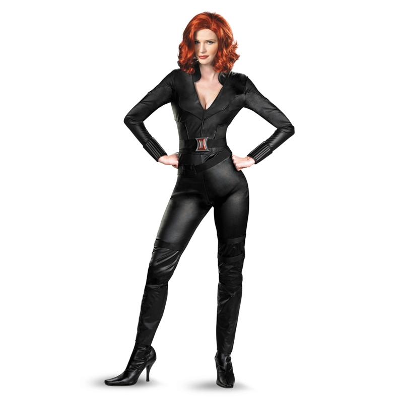 Marvel The Avengers Black Widow Deluxe Adult Womens Costume (Black Widow Avengers Costume)