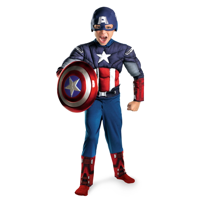 Marvel The Avengers Captain America Muscle Child Costume