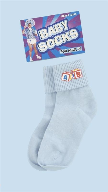 Image of Blue Baby Dress Socks