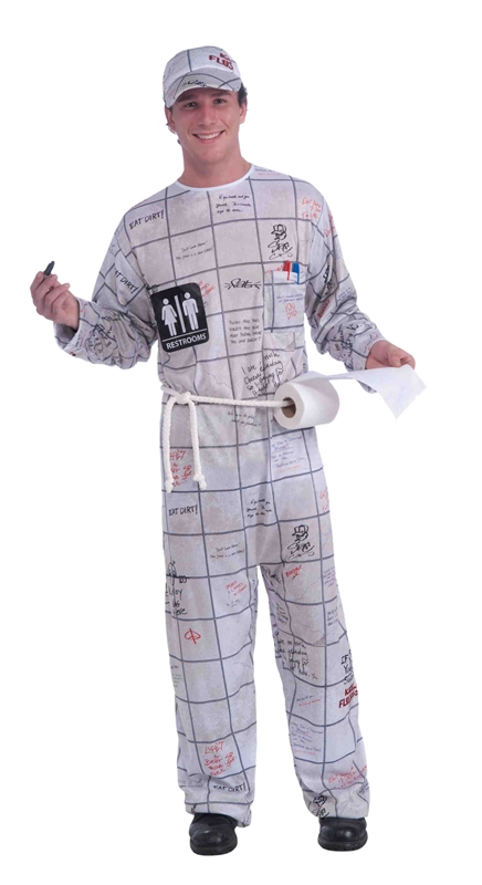 Bathroom Wall Guy Adult Costume
