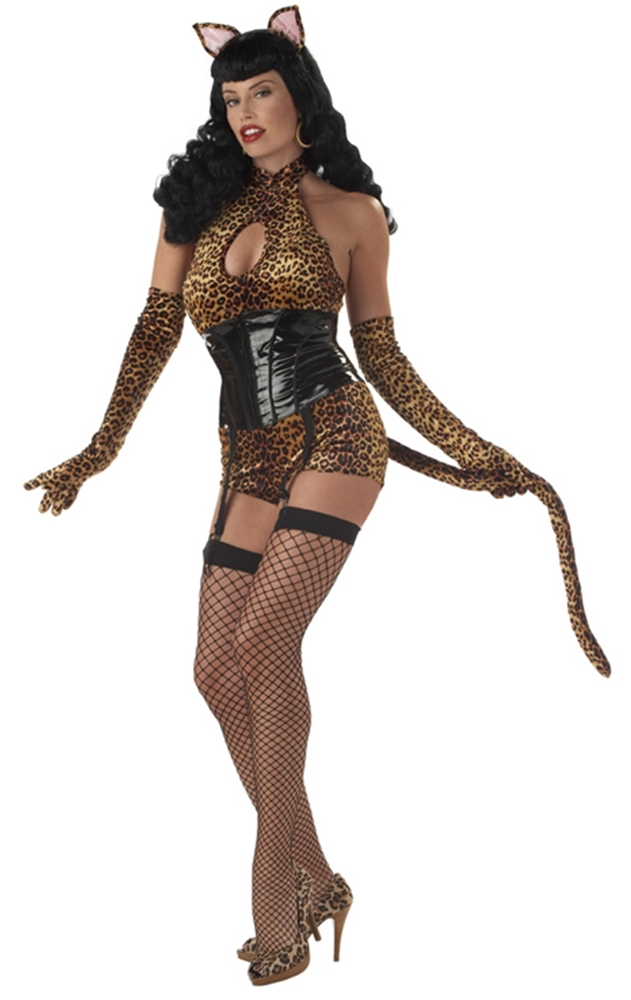 Bettie Page with Cat Tail Adult Costume