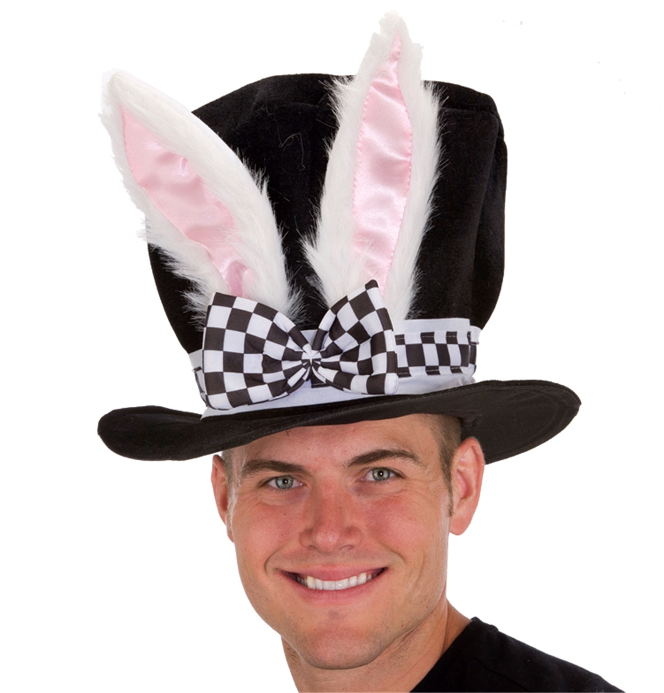 Black Velvet Bunny Ear Hat